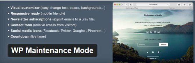 3 Vulnerabilidades en el plugin WP Maintenance Mode 2.0.6 y versiones anteriores