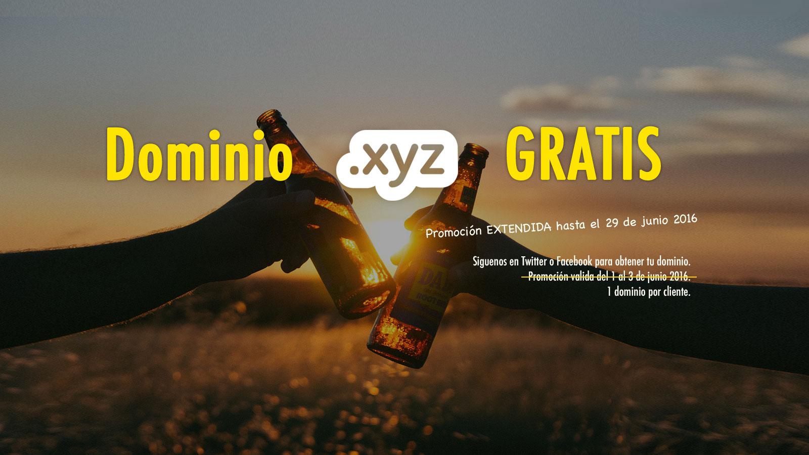 Dominio GRATIS .XYZ hasta el 29 de junio
