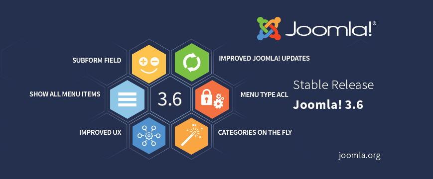Joomla 3.6 Nueva versión y nuevas características