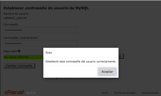 Password de 16 a 41 bytes para mayor seguridad en base de datos MySQL